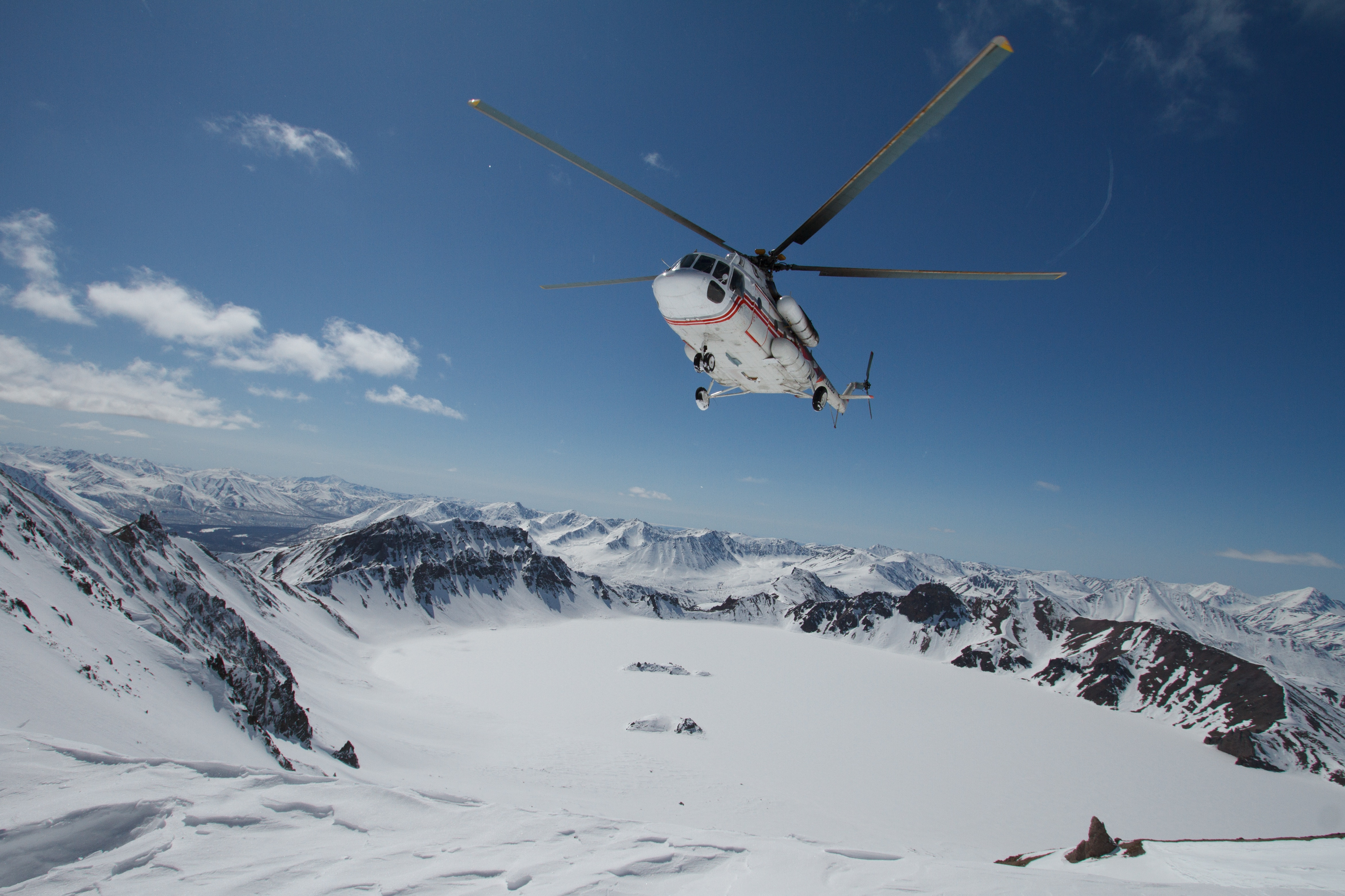 Helicopter Skiing in the Swiss Alps